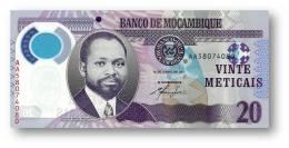MOZAMBIQUE - 20 METICAIS - 16.06.2011 - P 149 - Polymer - SAMORA MOISÉS MACHEL / RHINO - Mozambico