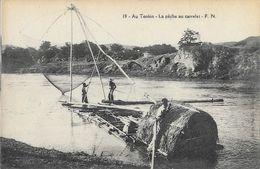 Indochine - Au Tonkin - La Pêche Au Carrelets - Carte F.N. N° 19 Non Circulée - Viêt-Nam