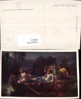 450615,Künstler AK Hans Zatzka Abendzauber Frauen Ruderboot Mondschein - Zatzka