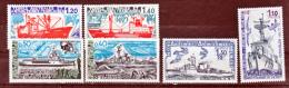 TAAF 66 67 74 75  79 80 Navires De Liaison  Neuf ** MNH Sin Charmela Cote 15.1 - Terres Australes Et Antarctiques Françaises (TAAF)