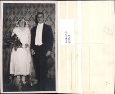 455343,Foto AK Hochzeit Hochzeitsfoto Brautpaar Schleier Blumen - Hochzeiten