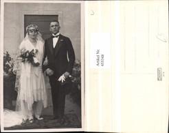 455348,Foto AK Hochzeit Hochzeitsfoto Brautpaar Schleier Blumen - Hochzeiten