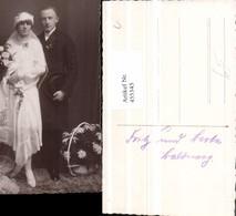 455345,Foto AK Hochzeit Hochzeitsfoto Brautpaar Blumen - Hochzeiten