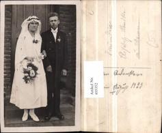 455352,Foto AK Hochzeit Hochzeitsfoto Brautpaar Rosen - Hochzeiten