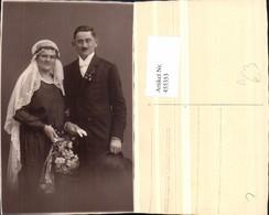 455353,Foto AK Hochzeit Hochzeitsfoto Brautpaar Schleier Blumen - Hochzeiten