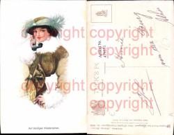 479351,Hans Leu Elegante Frauenfiguren Frau Mit Hut Telefon Glamour Pub Raphael Tuck - Fashion
