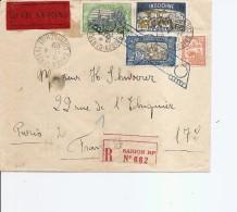 Indochine ( Lettre Recommandée Par Avion De 1929 De Saigon Vers La France à Voir) - Indochina (1889-1945)