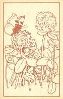 [DC3118] CPA - FIORI CON FARFALLA - Non Viaggiata - Old Postcard - Farfalle