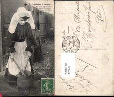 479876,La Chataignas Do Limouzino Frau Tracht Fass Topf Volkstypen Europa - Europe