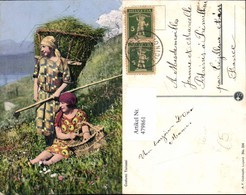 479861,Costumi Ticinesi Ticino Frauen Heuernte Volkstypen Europa - Europe