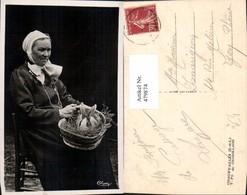479874,Chauffailles Type De Charollaise Frau Korb Hase Volkstypen Europa - Europe