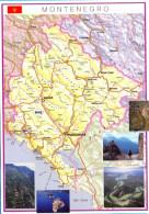 Montenegro. (4)   14,5x20,5cm. - Maps