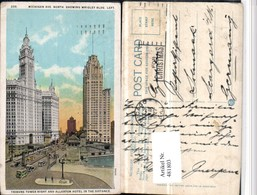 481803,Illinois Chicago Wrigley Building Tribune Tower Allerton Hotel - Cartes Postales