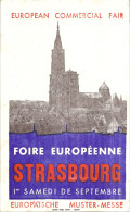 FOIRE EUROPEENNE  STRASBOURG  1er SAMEDI DE SEPTEMBRE - Buvards, Protège-cahiers Illustrés