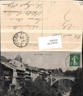 457699,Rhone-Alpes Savoie Flumet Le Ravin Brücke - Frankreich
