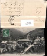457714,Rhone-Alpes Savoie Flumet Quartier De Eglise Kirche Brücke - Frankreich