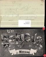 457675,Rhone-Alpes Savoie Modane Buchstaben Collage Mehrbildkarte - Frankreich