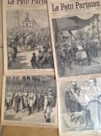Russie - 1896 - Couronnement Du Tsar, Le Tsar à Paris , 5 Revues Le Petit Parisien + 3 Gravures De Presse Sur La Russie - Livres, BD, Revues