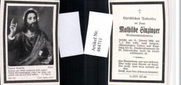 484711,Andachtsbild Sterbebild Mathilde Ginzinger Molkereimitinhaberin - Andachtsbilder
