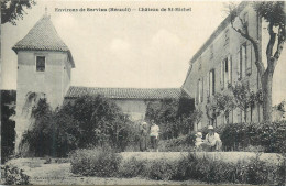 34 SERVIAN Ses Environs Château De St Michel   2 Scans - Other Municipalities