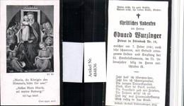 484836,Andachtsbild Sterbebild Eduard Wurzinger Privat In Dörnbach - Images Religieuses