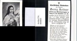 484805,Andachtsbild Sterbebild Georg Leitner Wiesbauerngut Burg Kematen An D. Krems - Andachtsbilder