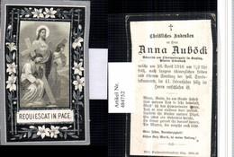 484752,Andachtsbild Sterbebild Anna Auböck Obermaiergut Katzing Dörnbach - Andachtsbilder