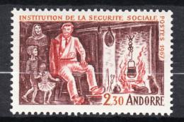 ANDORRA FRANCESA 1967. SEGURIDAD SO0CIAL   YVERT  Nº 183   SES346GRANDE - Unused Stamps