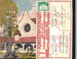 460512,Künstler AK Dörfli Schweizer Landesausstellung Bern 1914 Mariensäule - Ausstellungen