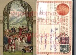 460514,Künstler AK Bundesfeier Schweiz 1918 Personen Fest - Ausstellungen