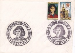 #BV 1375  SPECIAL POSTMARK COVER, COPERNICUS, ASTROLOG, ASTRONOMY, 1973, ROMANIA - Astrology