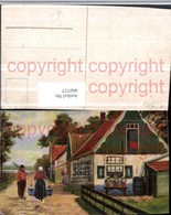 460737,Künstler AK Holland Volkstypen Wasserträgerin Haus - Europe