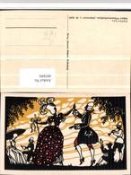 485889,Künstler AK Scherenschnitt Silhouette W. Tubbe Schäfertanz Pub Küpper Rokoko - Scherenschnitt - Silhouette