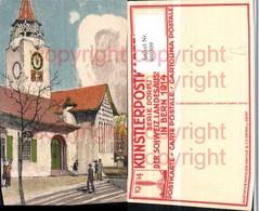 460509,Künstler AK Dörfli Schweizer Landesausstellung Bern 1914 Kirche - Ausstellungen