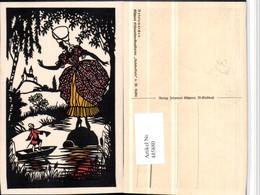485880,Künstler AK Scherenschnitt Silhouette W. Tubbe Rokoko Küpper Rokokomärchen - Scherenschnitt - Silhouette