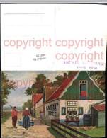 460729,Künstler AK Holland Volkstypen Wasserträgerin Haus - Europe