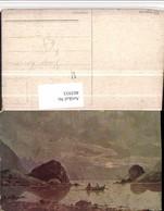 485935,Künstler AK Hugo Lissmann See Partie Ruderboot - Ilustradores & Fotógrafos