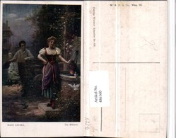 486160,Künstler AK Hans Zatzka Die Müllerin Frau Tracht Brunnen - Zatzka