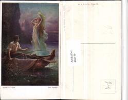486159,Künstler AK Hans Zatzka Der Fischer Boot Nymphe - Zatzka
