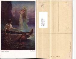 486162,Künstler AK Hans Zatzka Der Fischer Boot Nymphe - Zatzka