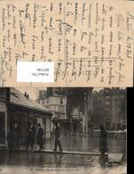 487196,Überschwemmung Crue De La Seine Paris Une Passerelle Improvisee Rue Gros 1910 - Überschwemmungen