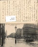 487198,Überschwemmung Paris Inondations De Janvier 1910 La Rue De Lyon - Überschwemmungen