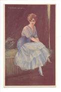 15063 - Corbella  Jolie Femme Assise 160-1 - Corbella, T.
