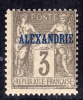 Alexandrie N° 3 XX Type Groupe : 3 C. Gris  Sans  Charnière  TB