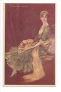 15067 - Corbella  Femme Assise  éventail 160-4 - Corbella, T.