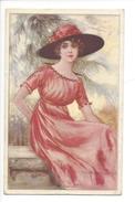 15070 - Corbella   Elégante Femme Assise Avec Chapeau  282-6 - Corbella, T.
