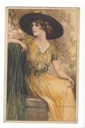 15076 - Corbella   Elégante Femme Assise Avec Chapeau   282-2 - Corbella, T.