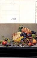 487622,Künstler Ak Stillleben Essen Melone Ananas Feigen Weintrauben Pub Römmler Jona - Küchenrezepte