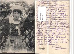 489273,Frankreich Bretagne Frau Tracht - Costumi