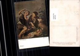 487635,B. E. Murillo Pastetenesser Buben Hund Picknick Essen Pub F. A. Ackermann 2074 - Küchenrezepte
